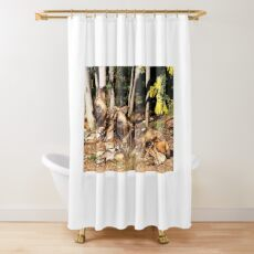 Relaxed anticipation Shower Curtain