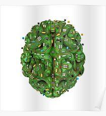 Circuit brain Poster
