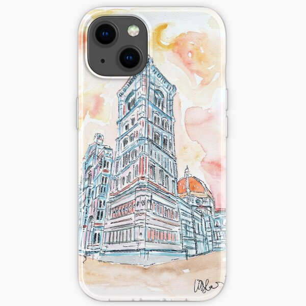 The Leaning Tower of Pisa - watercolor iPhone Soft Case