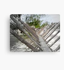 Colonial Fence Canvas Print