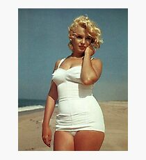 Marilyn Monroe White Swimsuit Photographic Print