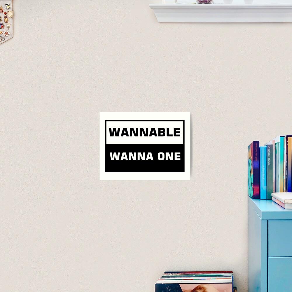 wanna one - wannable Art Print