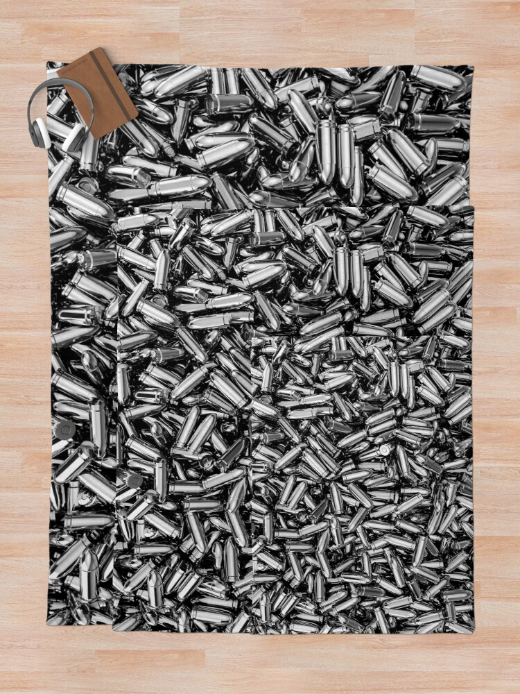 Alternate view of Silver bullets Throw Blanket