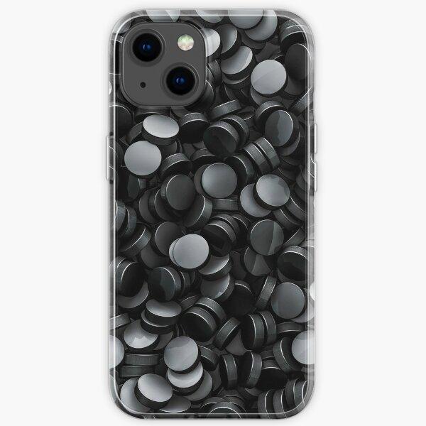 Hockey pucks iPhone Soft Case