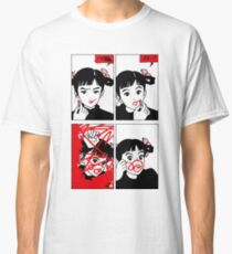 Anime Girl Red Lipstick Classic T-Shirt