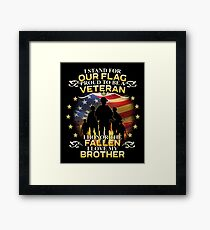 I Stand For Our Flag Proud To Be A Veteran Framed Print