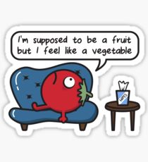 Tomato > Supposed Fruit > Vegetable Feeling > Sofa & Wipes Therapy  Sticker