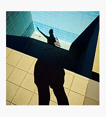 Swimming pool girl Photographic Print