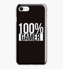 100% Gamer iPhone Case/Skin