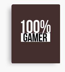 100% Gamer Canvas Print