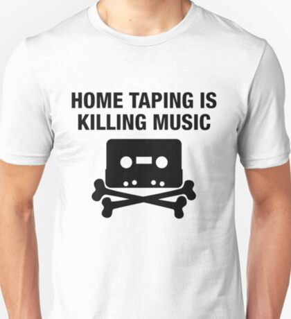 Home taping is killing music - hip hop cassette replica print T-Shirt