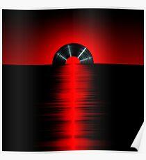 Vinyl sunset red Poster