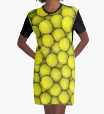 Tennisbälle T-Shirt Kleid