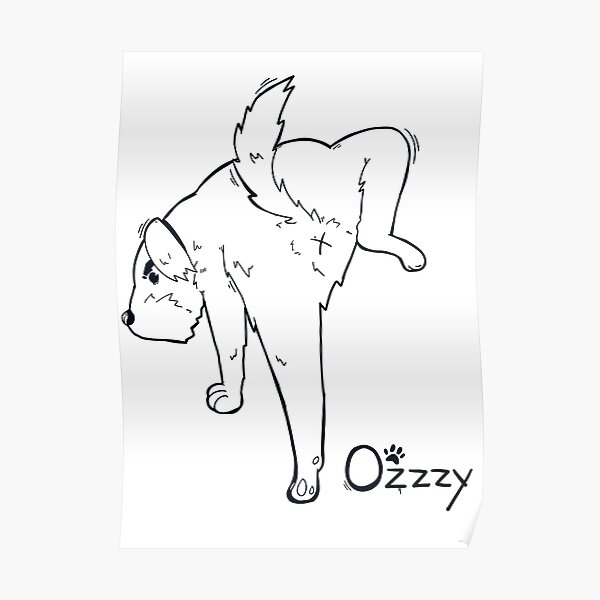 Ozzzy World Back Line Poster