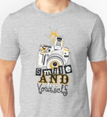 Smile and be Yourself Camera T-Shirt