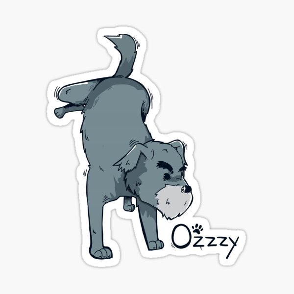 Ozzzy World Front Coloured Sticker
