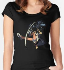 Bullet Dunk Decal Women's Fitted Scoop T-Shirt