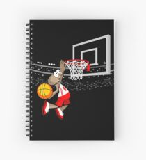 Boy who likes basketball making a goal Spiral Notebook