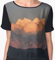 cotton candy clouds Chiffon Top