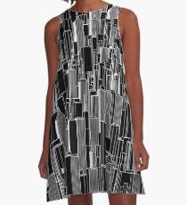 Tall city B&W inverted A-Line Dress