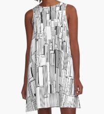 Tall city B&W A-Line Dress