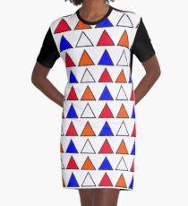 Triangles Graphic T-Shirt Dress