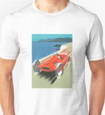Vintage Retro Race Car Red Coast F1 Formula One Ferrari T-Shirt