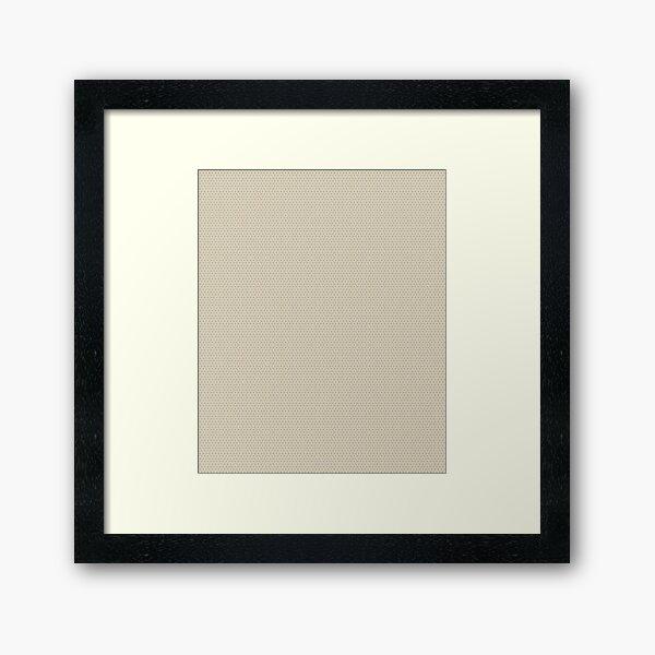 Symmetrical Biege Star Pattern  Framed Art Print