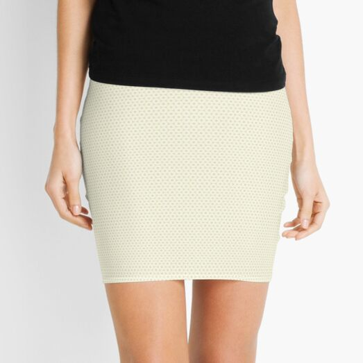 Symmetrical Biege Star Pattern  Mini Skirt