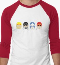 Four Stages of BrotherMania! Men's Baseball ¾ T-Shirt