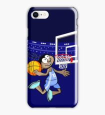 Boy basketball player jumping to score iPhone Case/Skin