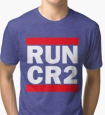 RUN CR2 - Canon Camera Raw Tri-blend T-Shirt