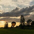 Summer Sunset with Balloons and Bicycles by Georgia Mizuleva
