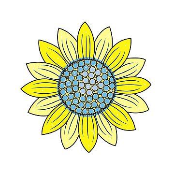 Sunflower Illustration by newimagedepot