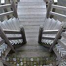 Stairways to the jetty by Arie Koene