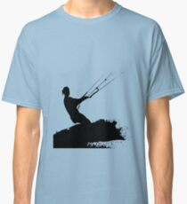 Wakeboarder Lets Go Fly A Kite Silhouette Classic T-Shirt