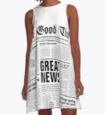 The Good Times Vol. 1, No. 1 A-Line Dress