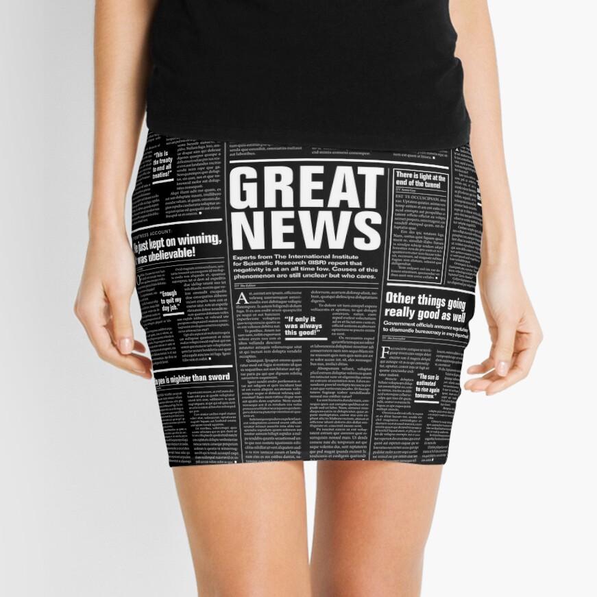 The Good Times Vol. 1, No. 1 REVERSED Mini Skirt