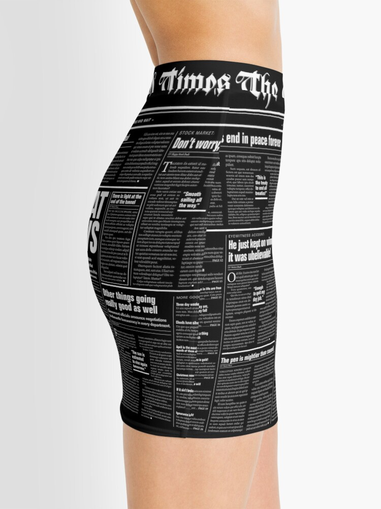 Alternate view of The Good Times Vol. 1, No. 1 REVERSED Mini Skirt