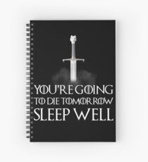 Sleep well - Game of Thrones Spiral Notebook