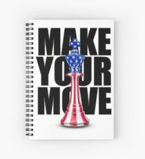 Make Your Move USA Spiral Notebook