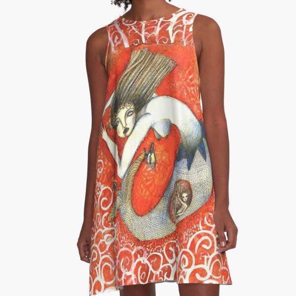 Sirena en Rojo A-Line Dress