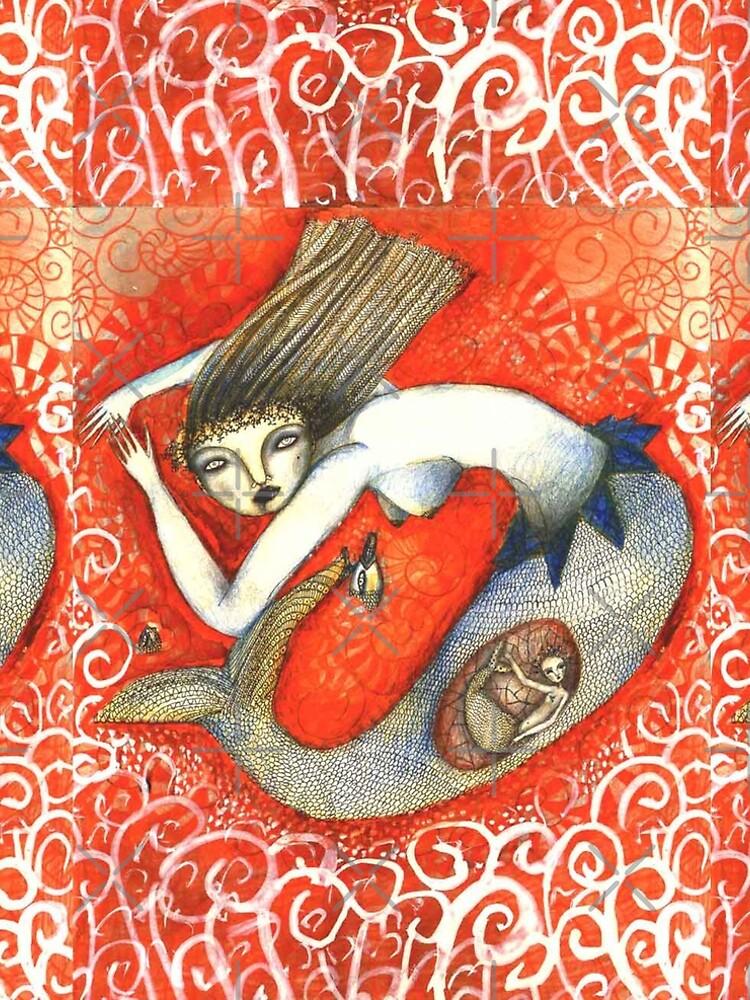 Sirena en Rojo by aremaarega