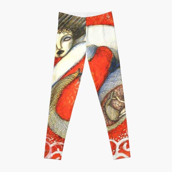 Sirena en Rojo Leggings