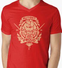 Mutant and Proud! (Raph) Men's V-Neck T-Shirt