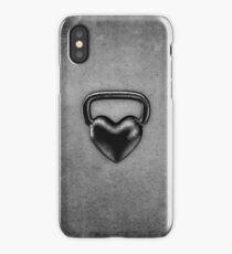 Kettlebell heart iPhone Case