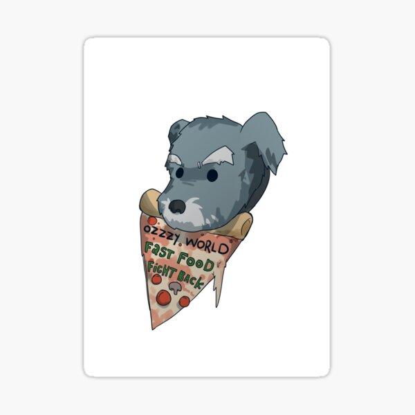 Ozzzy Pizza Text Sticker