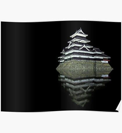 Matsumoto castle by night Poster