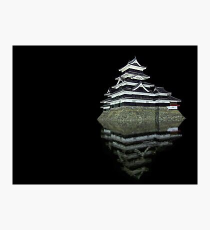 Matsumoto castle by night Photographic Print
