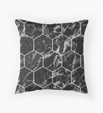 Black Campari - hexagons Throw Pillow